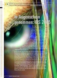In Augenschein genommen: IDS 2005 - Zahnheilkunde.de