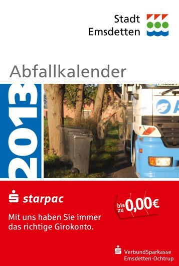 Abfallkalender 2013 - Ahlert Entsorgung