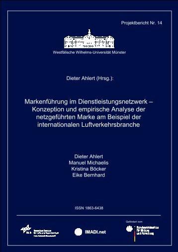 Markenführung im Dienstleistungsnetzwerk – Konzeption ... - EconBiz