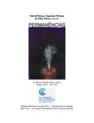 EntreFilmes, Sapukai Filmes & FiGa Films present - Semaine de la ...
