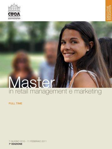 Scarica la brochure del master - Fondazione CUOA