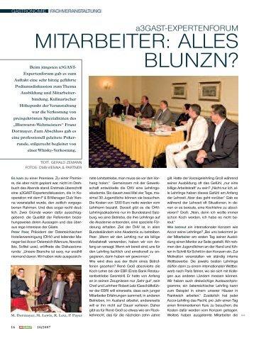 Gast 3/2004 Gastronomie - Food and Beverage Manager Club Vienna