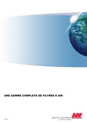 UNE GAMME COMPLETE DE FILTRES À AIR - A.a.f.
