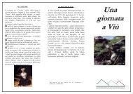 Una giornata a.. - Comunità montana Valli di Lanzo, Ceronda e ...