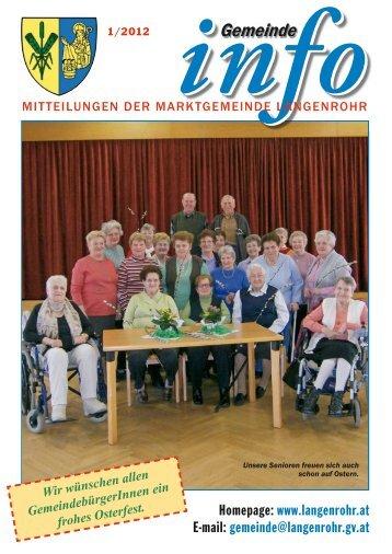 Gemeinde-Info (1,79 MB) - Marktgemeinde Langenrohr