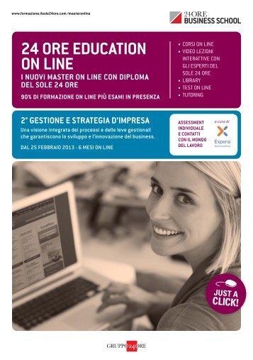 24 ORE EDUCATION ON LINE - Il Sole 24 ORE