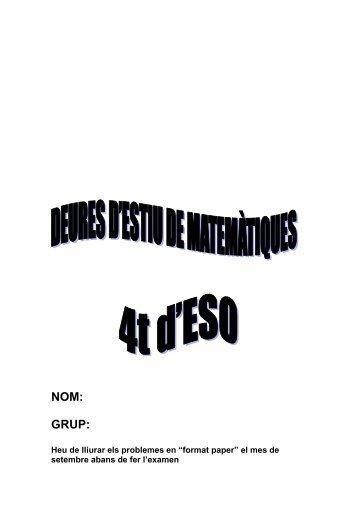 NOM: GRUP: - Institut Alexandre Satorras