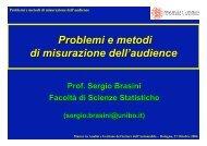 Problemi e metodi di misurazione dell'audience - Centro Studi ...