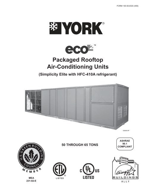 ECO2 Packaged Rooftop Air-Conditioning Units, Engineering