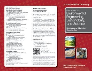 EESS Brochure - Civil and Environmental Engineering - Carnegie ...
