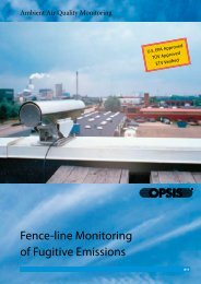 Fence-line Monitoring of Fugitive Emissions - Clean Air Engineering