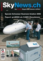 Special: Schweizer Business Aviation 2008 Report ... - SkyNews.ch