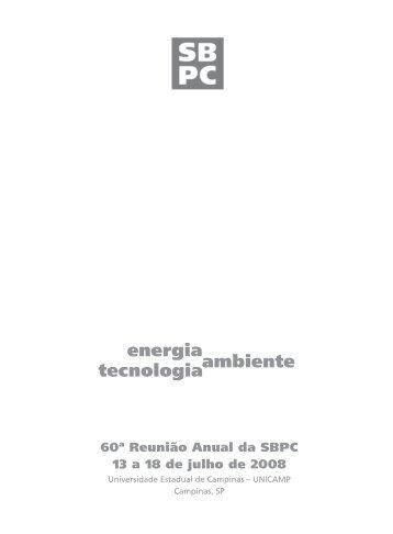 energia ambiente tecnologia - Sociedade Brasileira para o ...