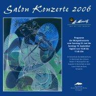 Salon Konzerte 2006 - Salonorchester St. Moritz