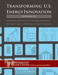 TRANSFORMiNG U.S. ENERGy INNOvAtiON - Belfer Center for ...