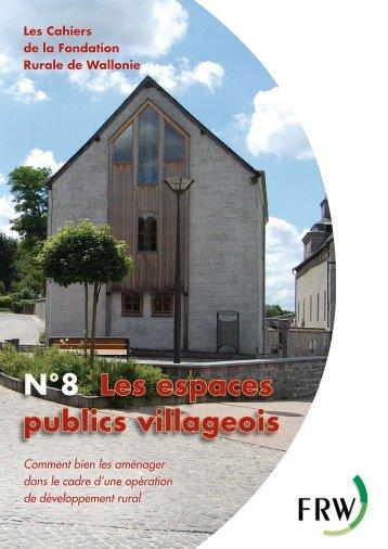 N°8 Les espaces publics villageois - Fondation rurale de Wallonie