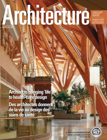 Architects bringing 'life' - Royal Architectural Institute of Canada