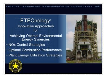 ETECnology® - ETEC, Entropy Technology & Environmental ...