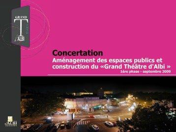 Grand Théâtre d'Albi Aménagements urbains