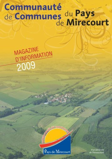 Bulletin CC Pays Mirecourt - Communauté de Communes du Pays ...