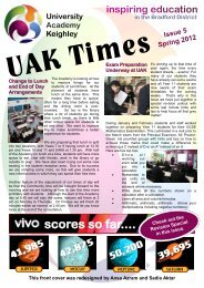 UAK Times Issue 5 Spring 2012 - University Academy Keighley