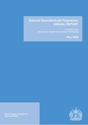 National Neonatal Audit Programme ANNUAL REPORT