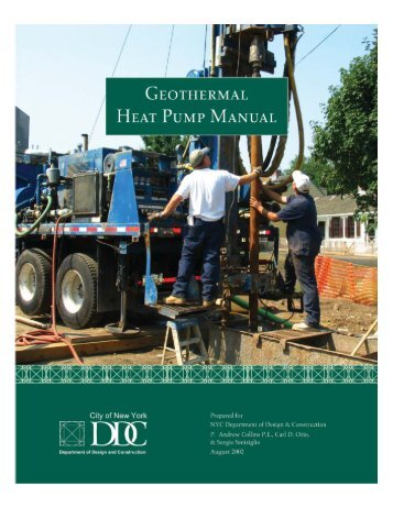 Geothermal Heat Pump Manual - NYC.gov