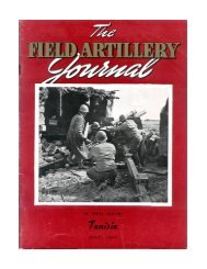 THE FIELD ARTILLERY JOURNAL - JULY 1943 - Fort Sill - U.S. Army