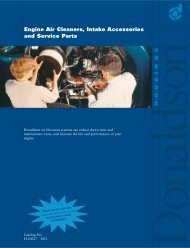 Engine Air Cleaners, Intake Accessories and ... - Giro Servicios CA