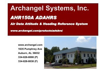 AHR150A Overview - Archangel Systems, Inc.