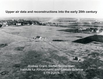 Upper air data and reconstructions Introduction Upper-airdata ...