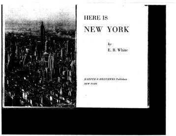 HERE IS NEW YORK by EB White
