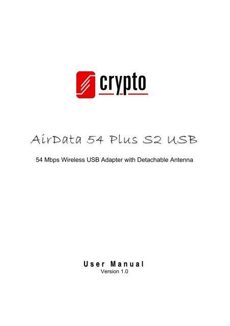 CRYPTO AIRDATA 54 PLUS S2 USB WINDOWS 8 DRIVERS DOWNLOAD
