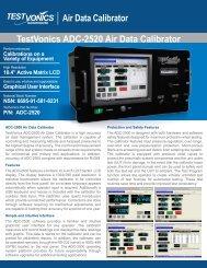 Air Data Calibrator TestVonics ADC-2520 Air Data Calibrator