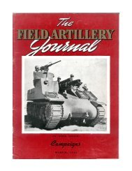 the field artillery journal - Fort Sill - U.S. Army