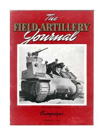 the field artillery journal - Fort Sill - U.S. Army