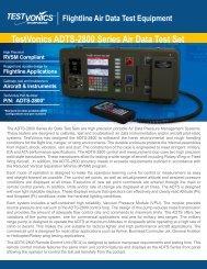 TestVonics ADTS-2800 Series Air Data Test Set