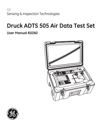 Druck ADTS 405/405F Air Data Test Systems Service Manual K0171