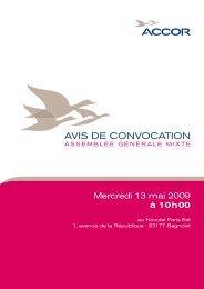 AVIS DE CONVOCATION