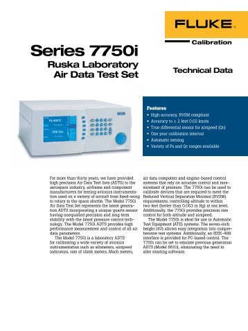 Series 7750i Ruska Laboratory Air Data Test Set - D-Ex Instruments