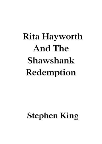 Rita Hayworth & The Shawshank Redemption - English 124: Film ...