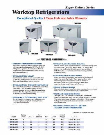 Worktop Refrigerators - MyChefStore.com