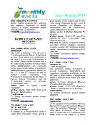 July - August 2012 - Cyprus Tourism Organisation