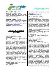 December 2012 - Cyprus Tourism Organisation