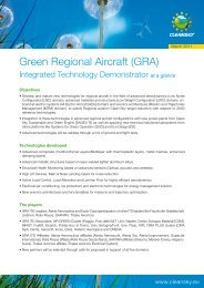 Green Regional Aircraft (GRA) - Clean Sky