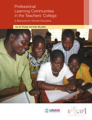 Professional Learning Communities in the Teachers' College