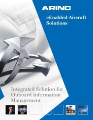 eEnabled Aircraft Solutions Integrated Solution for Onboard ... - Arinc