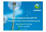 Green Regional Aircraft ITD - Clean Sky