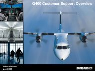 Q400 Customer Support Overview - Bombardier Commercial Aircraft ...