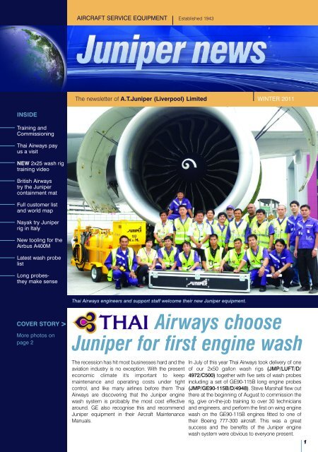 Airways choose Juniper for first engine wash - Juniper Liverpool